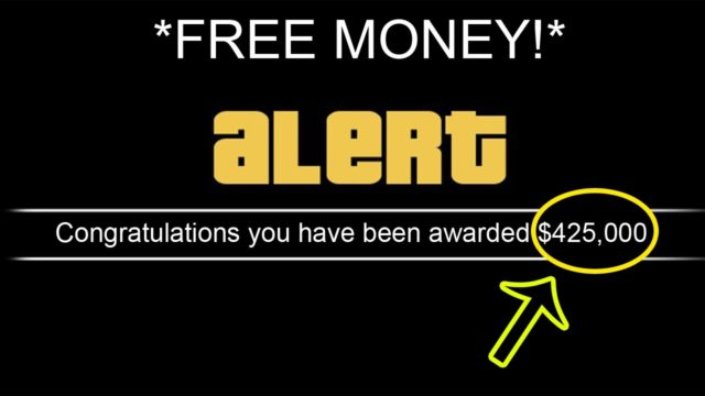 giving away money to everyone