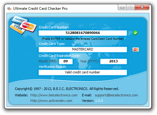 how to use credit card validator
